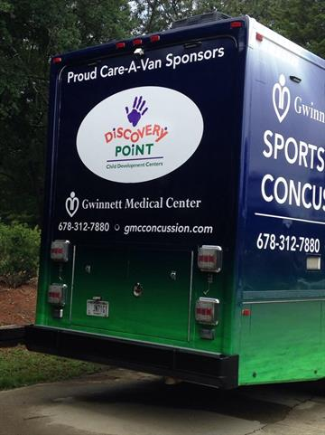 care-a-van, concussion, child care, gwinnett medical, sports medicine, discovery point